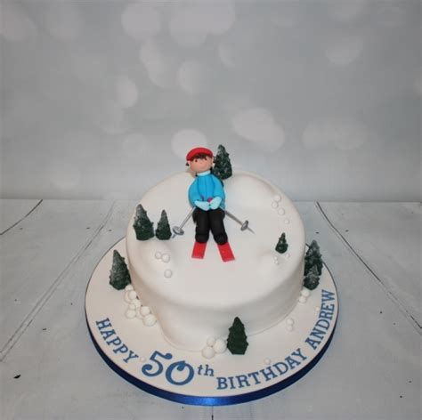 themed birthday cakes skiing themed 50th birthday cake