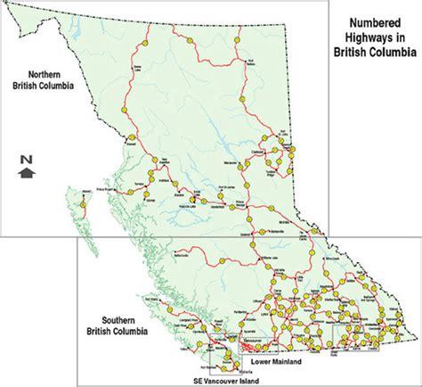 printable bc road map bc maps
