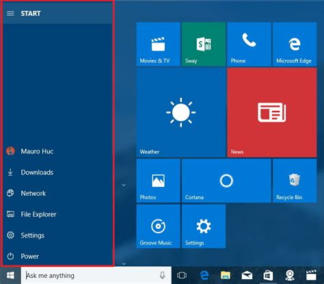 update layout preview button what s new in the start menu for windows 10 anniversary