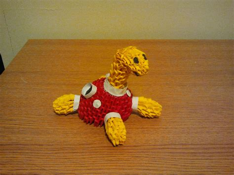 How To Make A 3d Origami Pikachu - 3d origami shuckle by pokegami on deviantart