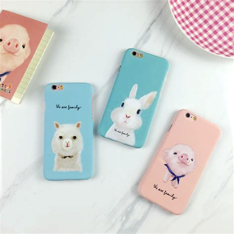 Rabbit For Samsung Galaxy A3 A310 Magenta Tempered lack lovely animal pig rabbit for iphone 7 for iphone7 6s 6 plus 5 5s