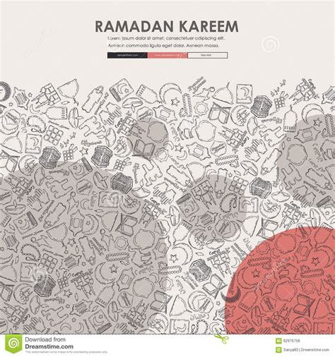 doodle bug website ramadan doodle website template design stock vector