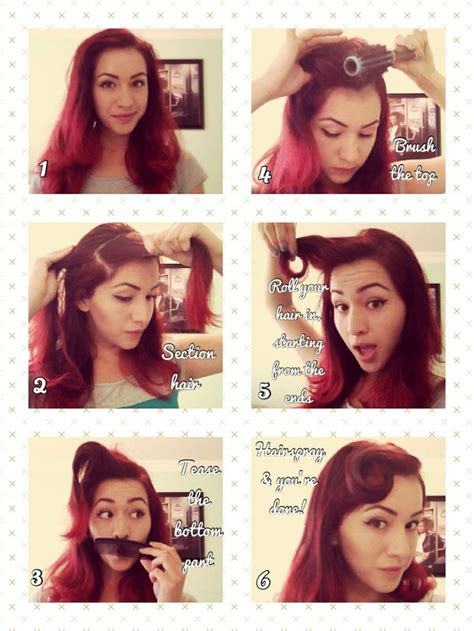 retro hair short diy rockabilly vintage hair tutorial so pin up diy hair