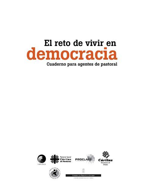 este cuaderno es para m 237 el 237 sabet benavent aguilar 183 librer 237 a rafael alberti el reto de vivir en democracia cuaderno para agentes pastoral