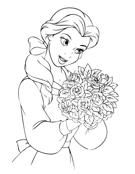 disney belle coloring pages az coloring pages