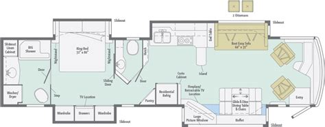 rv floor plans class a ellipse floorplans winnebago rvs