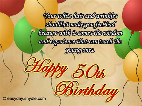 Ee  Birthday Ee   Wishes For Fifty Year Old