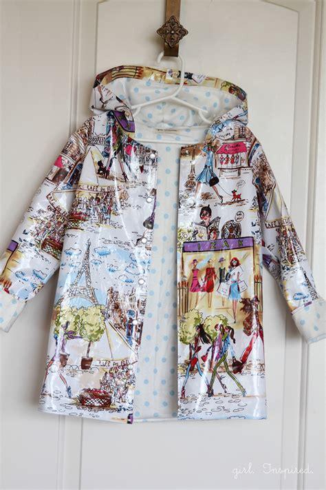 vinyl raincoat pattern sew a raincoat girl inspired
