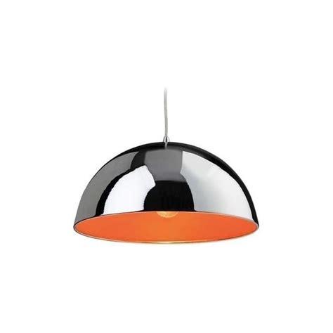 Orange Ceiling Light Fixtures Bistro 8622chor Chrome And Orange 1 Light Ceiling Pendant