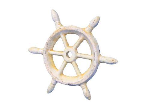 cast iron home decor wholesale antique white cast iron ship wheel decorative paperweight 4 quot model ship assembled