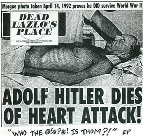 adolf hitler biography death dead lazlo s place adolf hitler dies of heart attack