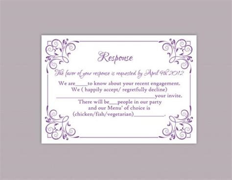 rsvp cards for weddings templates diy wedding rsvp template editable text word file