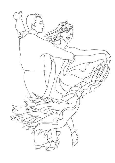 Coloriage Couple Danseur De Tango
