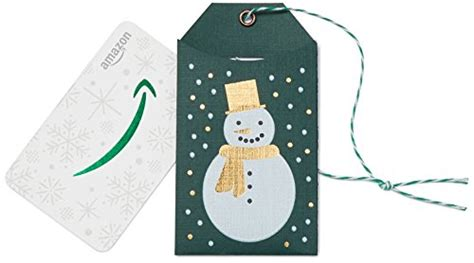 Amazon Gift Card Vendors - amazon com gift card in a green snowman tag wavendor newyork
