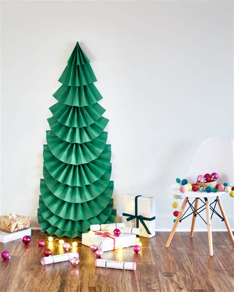 make it diy life sized folded paper christmas tree