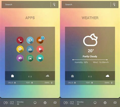 nova launcher cool themes 30 cool customized android home screens hongkiat