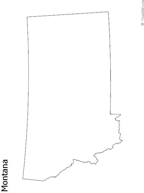 blank map of montana blank map of montana rivers