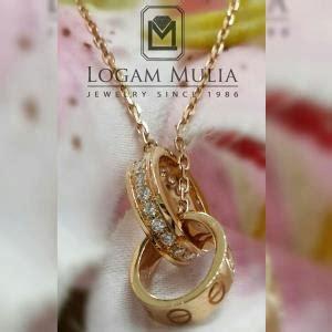 Satu Set Kalung Perhiasan Wanita Cewek Anting Liontin Stainless Impor jual cincin berlian wanita cincin berlian pria elegan