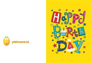 happy birthday card to print printable birthday card free birthday cards free