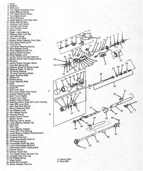 1970 chevrolet steering column wiring diagram gm steering