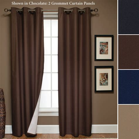 thermal curtain panels sunset microfiber thermal grommet curtain panels