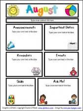 free printable preschool newsletter templates dj inkers back to school giveaway