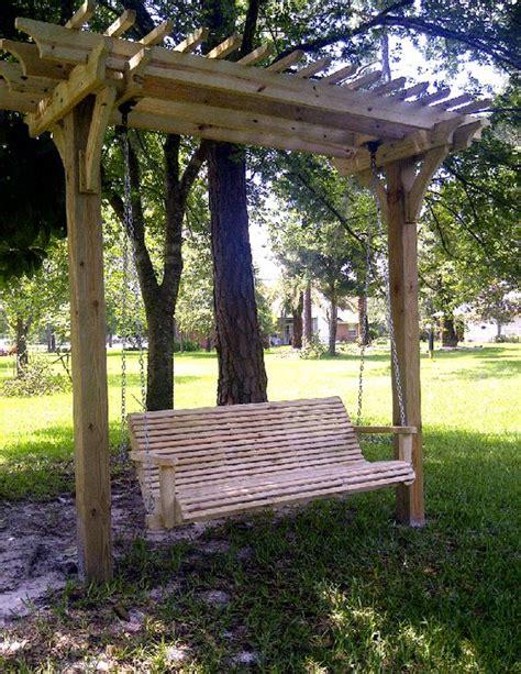 swing arbor plans best arbor for swing yet gardening ideas pinterest