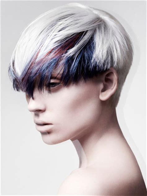 hairstyles colored bangs short hair color ideas crazy colors for short haircuts
