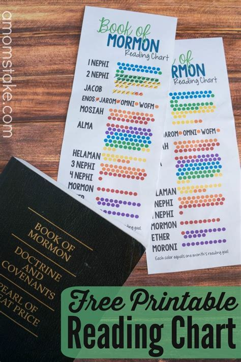 Printable Book of Mormon Reading Chart   December, Book of