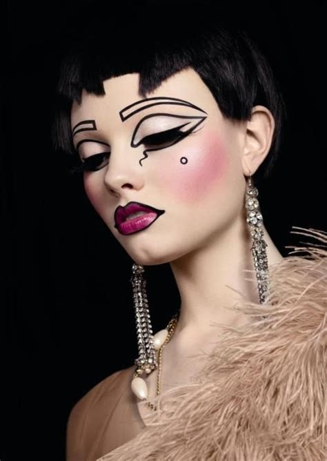 hair and make up artist on love lust or run art deco beauty or art stunning avant garde makeup