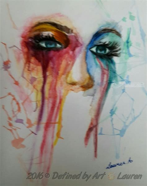 Paintings by Defined by Art With Lauren   Expressionism, Portrait, created in Watercolor