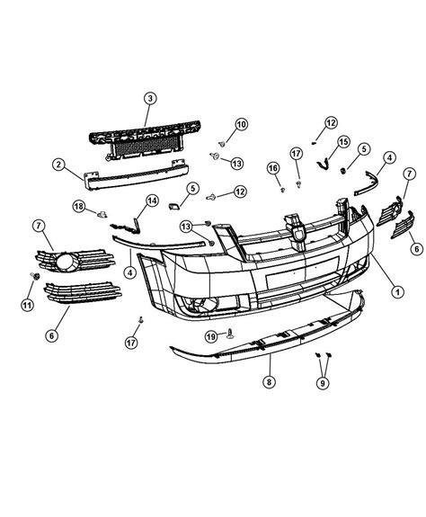 2008 2010 dodge grand caravan parts list catalog download manu fascia front