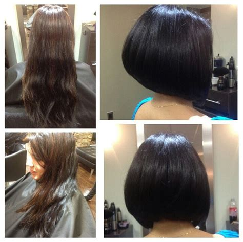womans haircut back touches top of shoulders front is longer 30 latest chic bob hairstyles for 2017 pretty designs