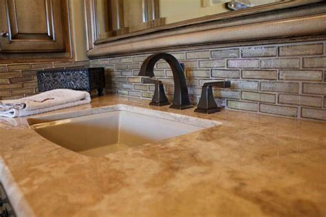 types of kitchen backsplash different types of granite countertops