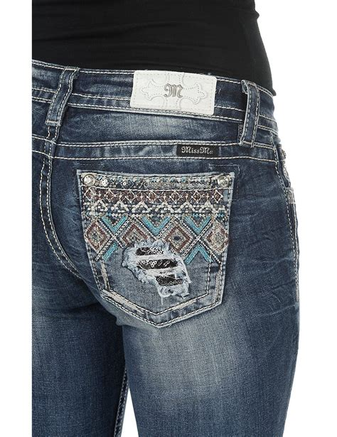pattern for jeans pocket miss me women s medium wash with diamond pattern beaded