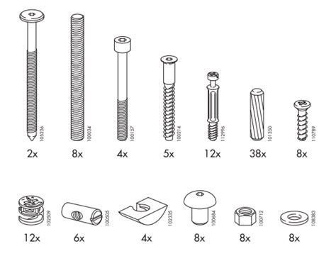 Ikea Bed Frame Screws Ikea Mandal Bed Frame Replacement Parts Furnitureparts