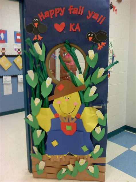 fall classroom door decorating ideas fall in the classroom on scarecrows fall