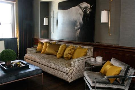 grey and gold living room left coast luxe april 2010
