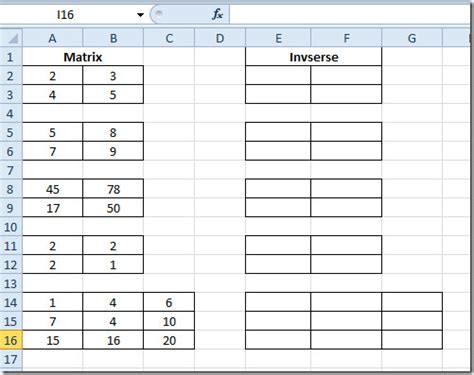 pour ma famille how to multiply matrices in excel 2010
