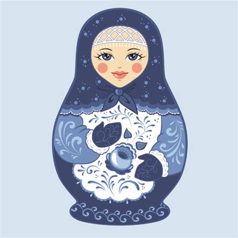 design doll download full cute russian doll design vectors 01 vector other free