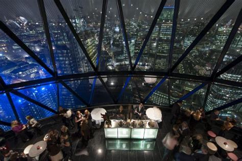 bar at the top of the gherkin the glass dome searcys the gherkin venue search london
