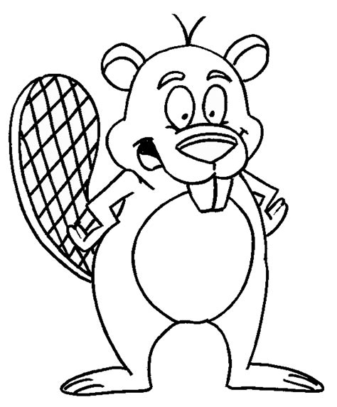 beaver color beaver coloring pages