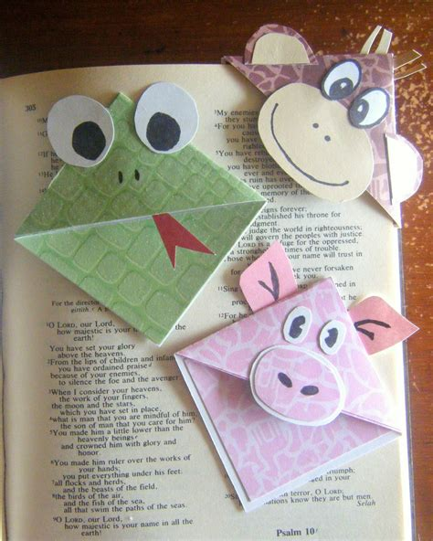 Paper Bookmarks - living and learning at home paper hats and corner