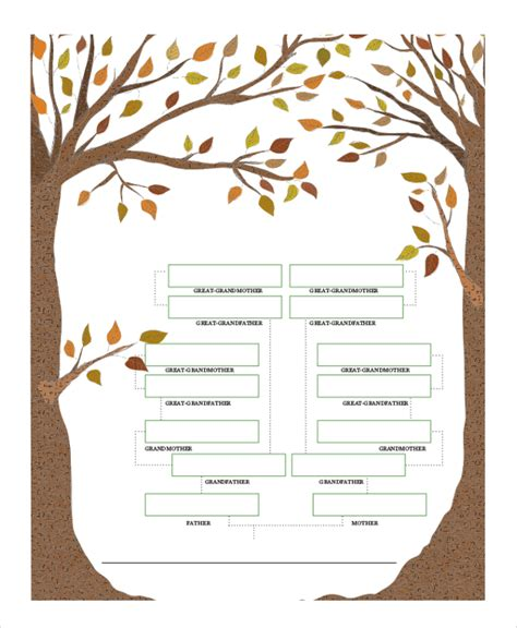 family tree template 8 free word pdf document