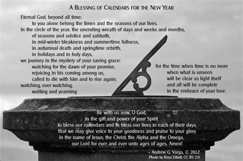 blessing for the new year a blessing of calendars for the new year