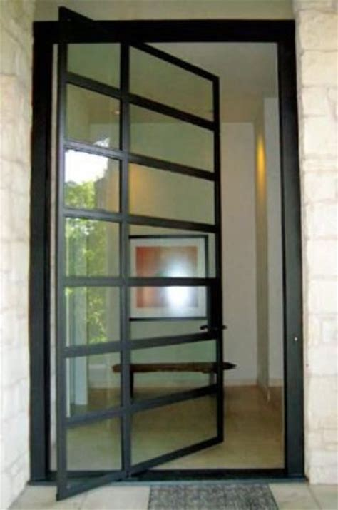 Exterior Steel Door With Window 28 Beautiful Glass Front Doors For Your Entry Shelterness
