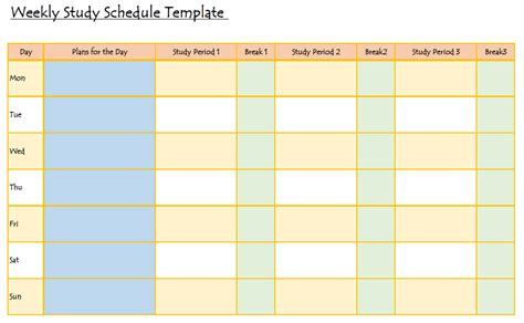 study plan template study hack here s a handy weekly study schedule