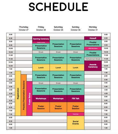 A Schedule Schedule