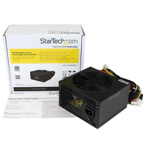 Power Supply Power Up 500 Watt 500 watt power supply 80 plus psus startech europe