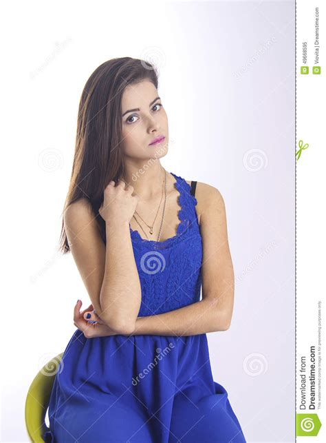 who is the brunette in the blue dress in the viagra add brunette student in blue dress stock photo image 49668595
